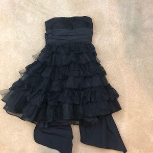RED Valentino Lace Tulle Strapless Mini Dress 4